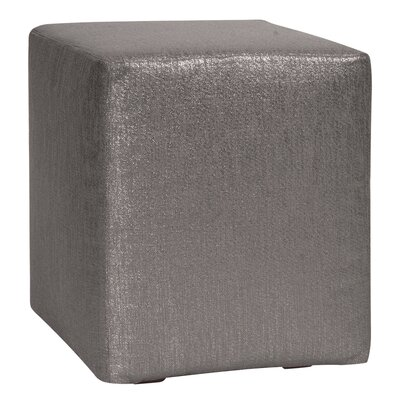 Alas Polyester Ottoman Slipcover Upholstery: Zinc