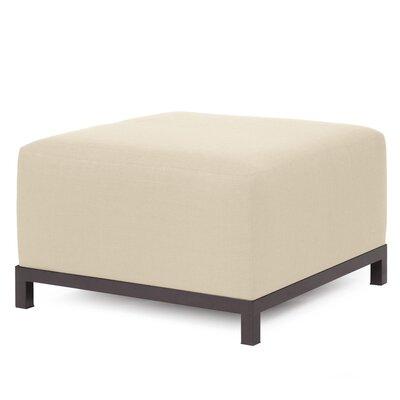 Alyssia Ottoman Upholstery: Sand, Finish: Mahogany