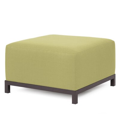 Alyssia Ottoman Upholstery: Willow, Finish: Mahogany