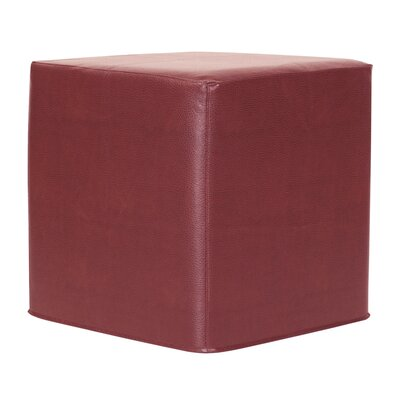 Contreras Block Avanti Ottoman Upholstery: Apple - Red