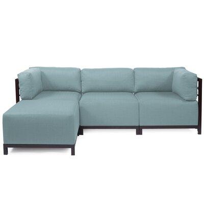 Alyssia Sectional Upholstery: Breeze, Finish: Mahogany
