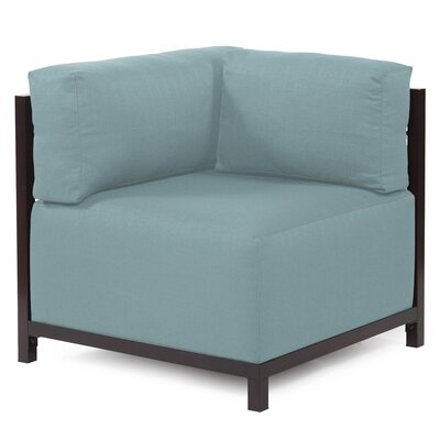 Woodsen Corner Armchair Upholstery: Polyester - Sterling Breeze, Finish: Mahogany