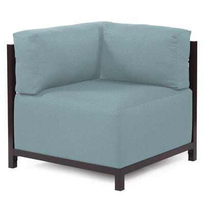 Woodsen Corner Armchair Upholstery: Polyester - Sterling Breeze, Finish: Mahogany