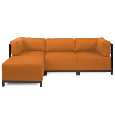 Alyssia Sectional Upholstery: Canyon, Finish: Mahogany
