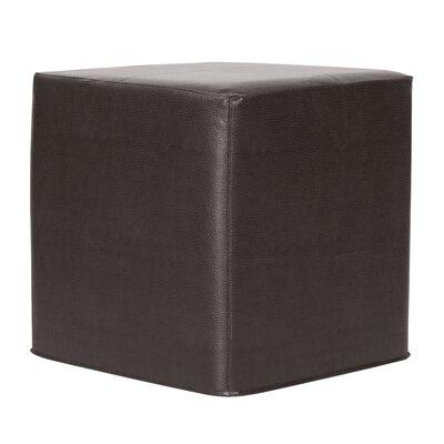 Contreras Avanti Cube Ottoman Upholstery: Black