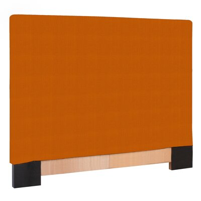 Straley Upholstered Panel Headboard Size: Twin, Upholstery: Bella Chocolate