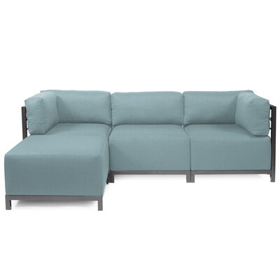 Alyssia Reversible Sectional Upholstery: Breeze, Finish: Titanium