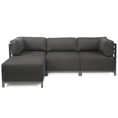 Alyssia Reversible Sectional Upholstery: Charcoal, Finish: Titanium