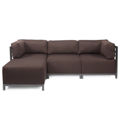 Alyssia Reversible Sectional Upholstery: Chocolate, Finish: Titanium