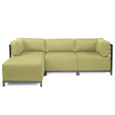 Alyssia Sectional Finish: Titanium, Upholstery: Willow