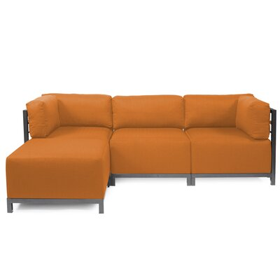 Alyssia Reversible Sectional Upholstery: Canyon, Finish: Titanium