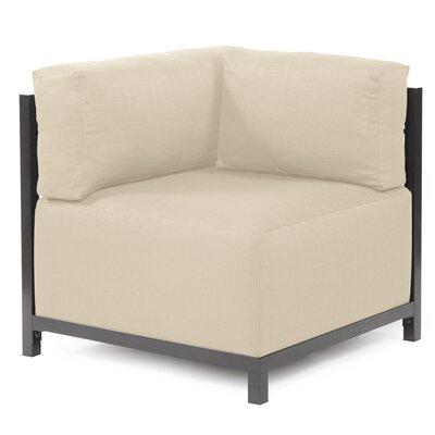Woodsen Corner Armchair Upholstery: Polyester - Sterling Sand, Finish: Titanium