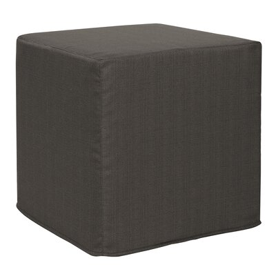 Contreras Block Sterling Ottoman Upholstery: Charcoal
