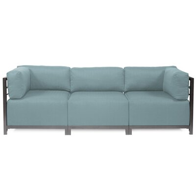 Alyssia 3 Seater Sofa Upholstery: Breeze, Finish: Titanium