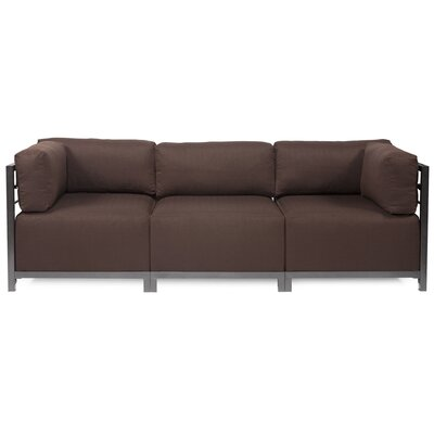 Alyssia 3 Seater Sofa Upholstery: Chocolate, Finish: Titanium