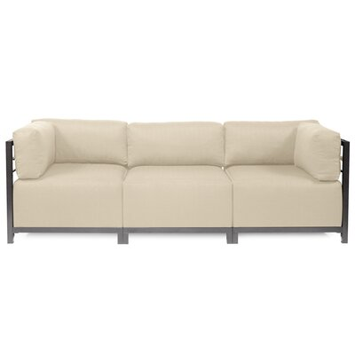 Alyssia 3 Seater Sofa Upholstery: Sand, Finish: Titanium