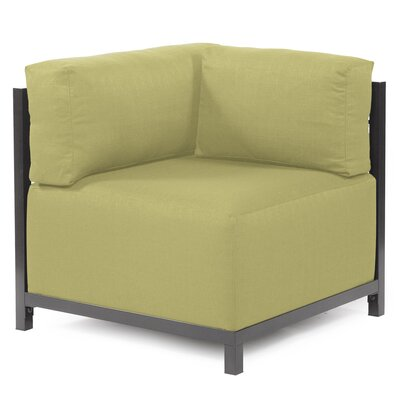 Woodsen Corner Chair Upholstery: Polyester - Sterling Willow, Finish: Titanium