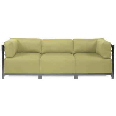 Alyssia 3 Seater Sofa Upholstery: Willow, Finish: Titanium