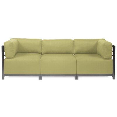 Alyssia 3 Seater Sofa Finish: Titanium, Upholstery: Willow