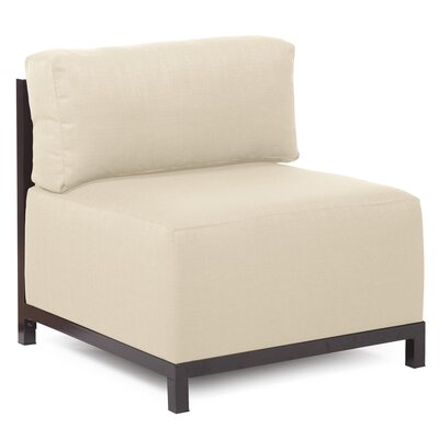 Woodsen SideChair Upholstery: Polyester - Sterling Sand, Finish: Mahogany
