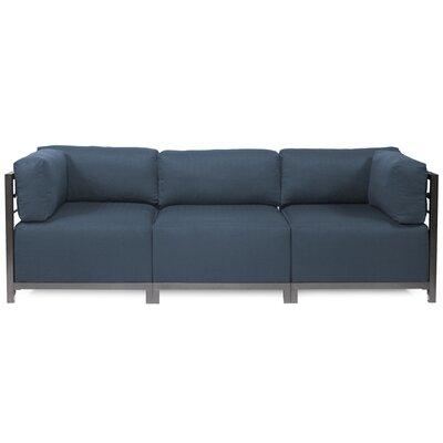 Alyssia 3 Seater Sofa Upholstery: Indigo, Finish: Titanium