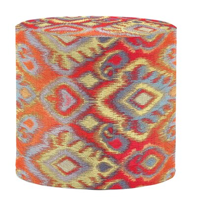 Bedel Cylinder Ottoman Upholstery: Opal Fire