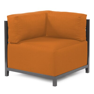 Woodsen Corner Chair Upholstery: Polyester - Sterling Canyon, Finish: Titanium