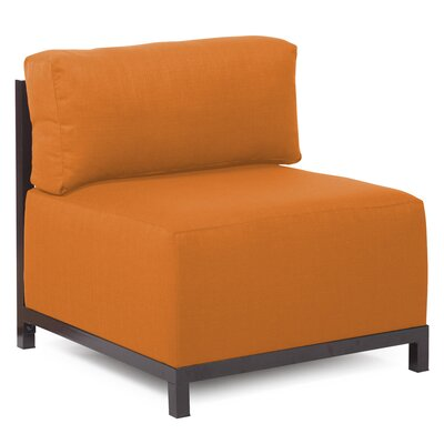 Woodsen SideChair Upholstery: Polyester - Sterling Canyon, Finish: Mahogany