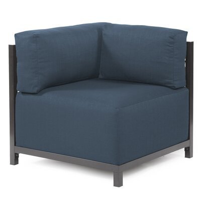 Woodsen Corner Chair Upholstery: Polyester - Sterling Indigo, Finish: Titanium