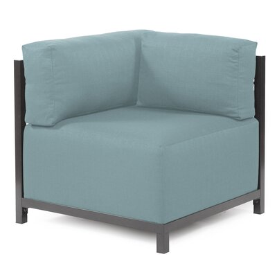 Woodsen Corner Armchair Upholstery: Polyester - Sterling Breeze, Finish: Titanium
