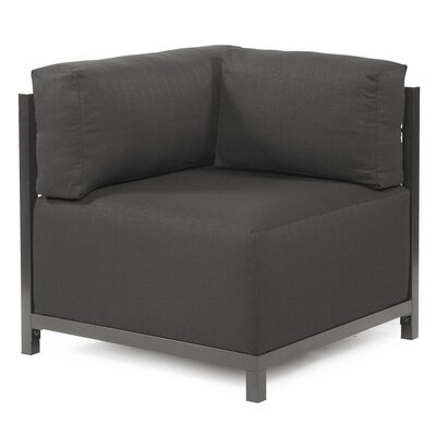 Woodsen Corner Chair Slipcover Upholstery: Sterling Charcoal