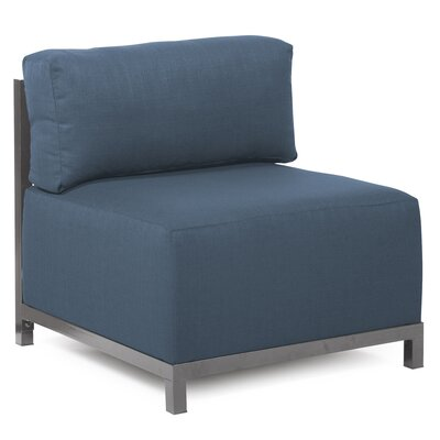 Woodsen Side Chair Upholstery: Polyester - Sterling Indigo, Finish: Titanium