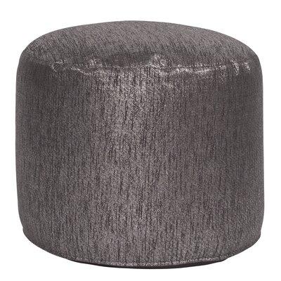 Bleeker Pouf Tall Ottoman Upholstery: Glam Zinc