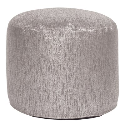 Bleeker Pouf Tall Ottoman Upholstery: Glam Pewter