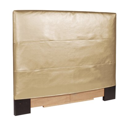 Jodie Shimmer Upholstered Panel Headboard Size: Twin, Upholstery: Gold