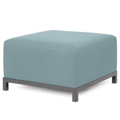 Alyssia Ottoman Upholstery: Breeze, Finish: Titanium