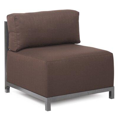 Woodsen SideChair Upholstery: Polyester - Sterling Chocolate, Finish: Titanium