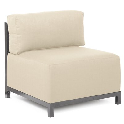 Woodsen SideChair Upholstery: Polyester - Sterling Sand, Finish: Titanium