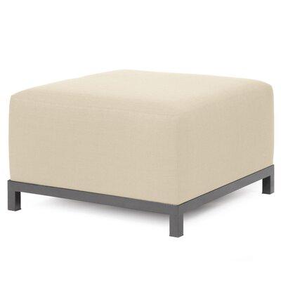 Alyssia Ottoman Upholstery: Sand, Finish: Titanium