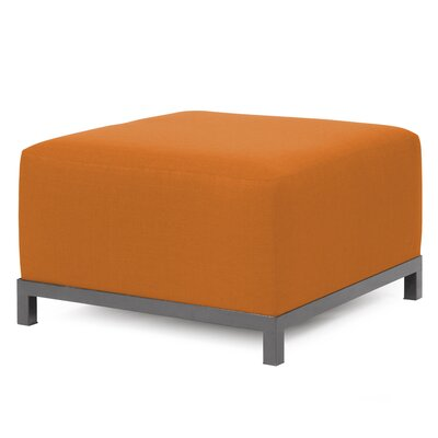 Alyssia Ottoman Upholstery: Canyon, Finish: Titanium
