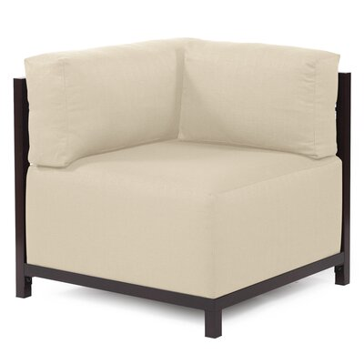 Woodsen Corner Armchair Upholstery: Polyester - Sterling Sand, Finish: Mahogany