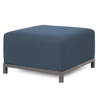 Alyssia Ottoman Upholstery: Indigo, Finish: Titanium