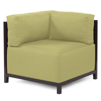 Woodsen Corner Armchair Upholstery: Polyester - Sterling Willow, Finish: Mahogany