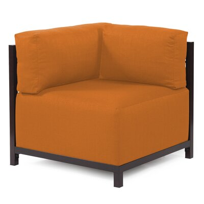 Woodsen Corner Armchair Upholstery: Polyester - Sterling Canyon, Finish: Mahogany