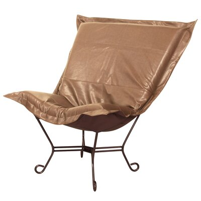 Azaria Scroll Lounge Chair Color: Avanti Bronze