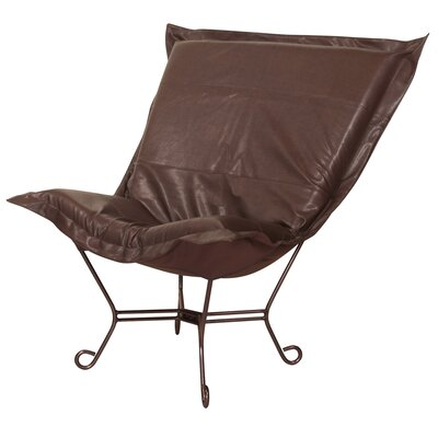 Azaria Scroll Lounge Chair Color: Avanti Pecan