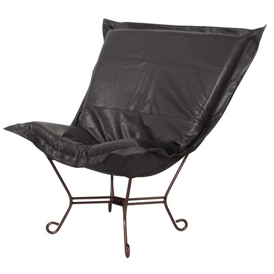 Azaria Scroll Lounge Chair Color: Avanti Black