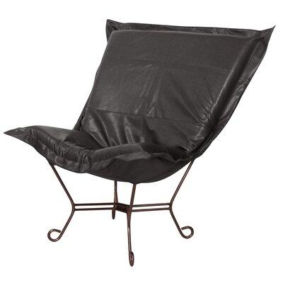 Azaria Scroll Lounge Chair Upholstery: Avanti Black