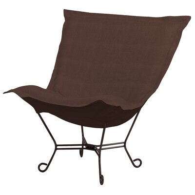 Azaria Scroll Lounge Chair Color: Sterling Chocolate