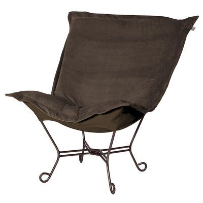 Azaria Scroll Lounge Chair Color: Bella Eggplant Black